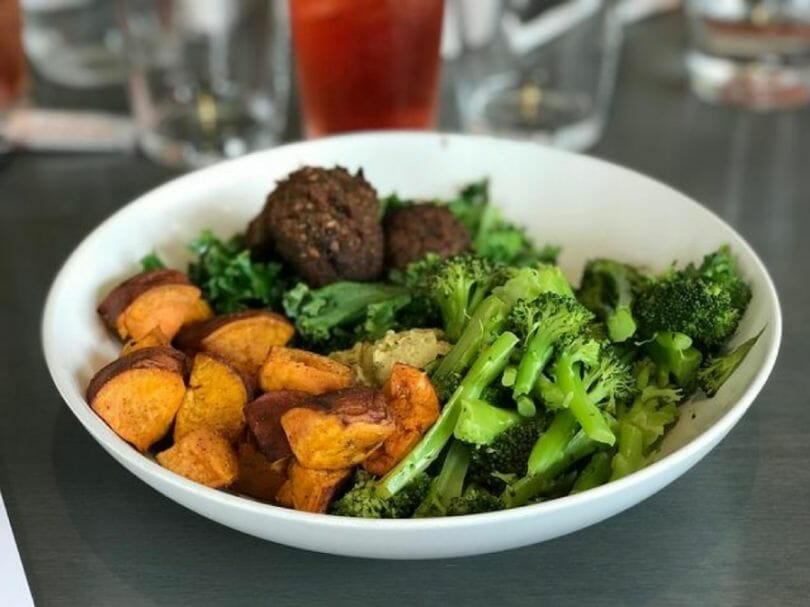 Bowl of the ultimate wrestler's diet vegetables