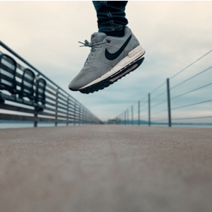 Nike Running Shoes in Mid Air