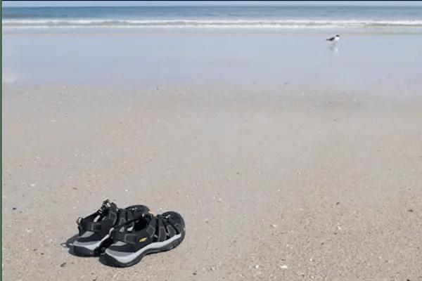Keen Newport Plantar Fasciitis Sandals at the beach