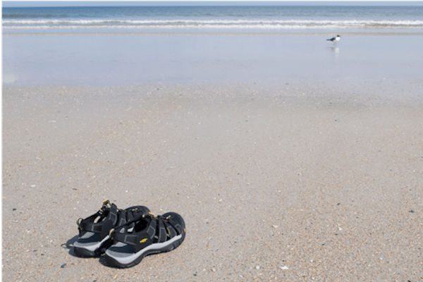 Keen Newport Plantar Fasciitis Sandals at the beach