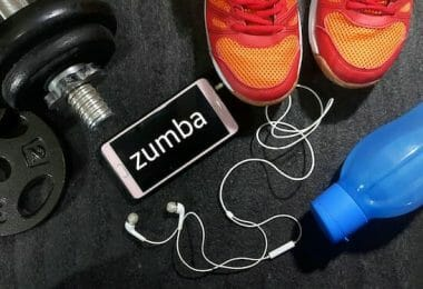 A picture of zumba workout gear, including shoes