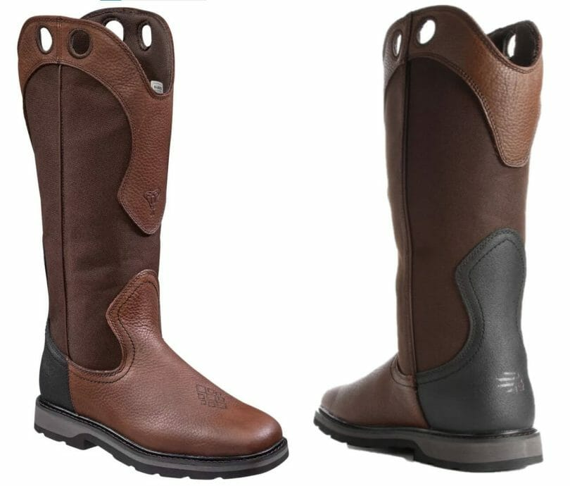 LaCrosse Snake Country Western Snakeproof Cowboy Boots. Detailed images of side and rear of boots