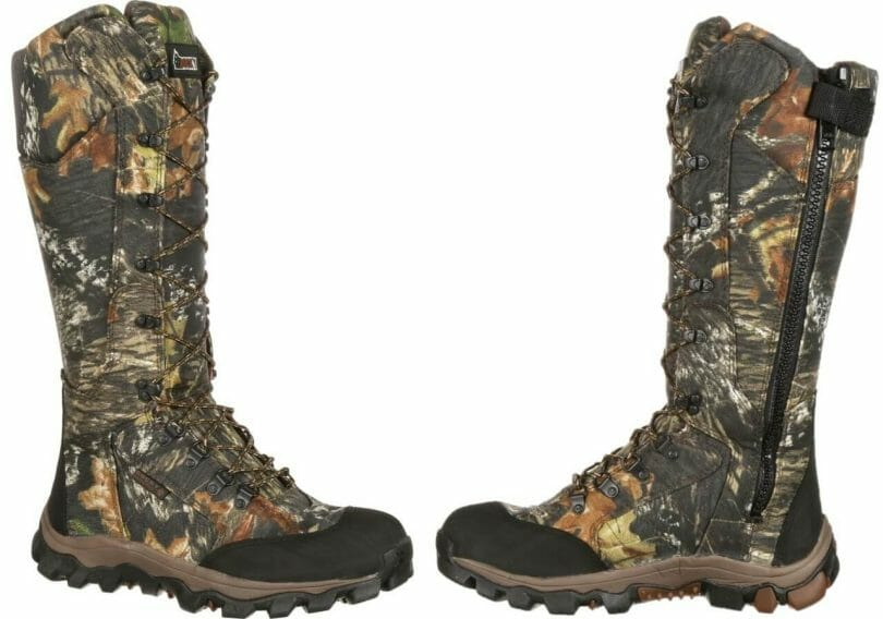 Rocky Lynx Snake Boot image of both sides including side zipper