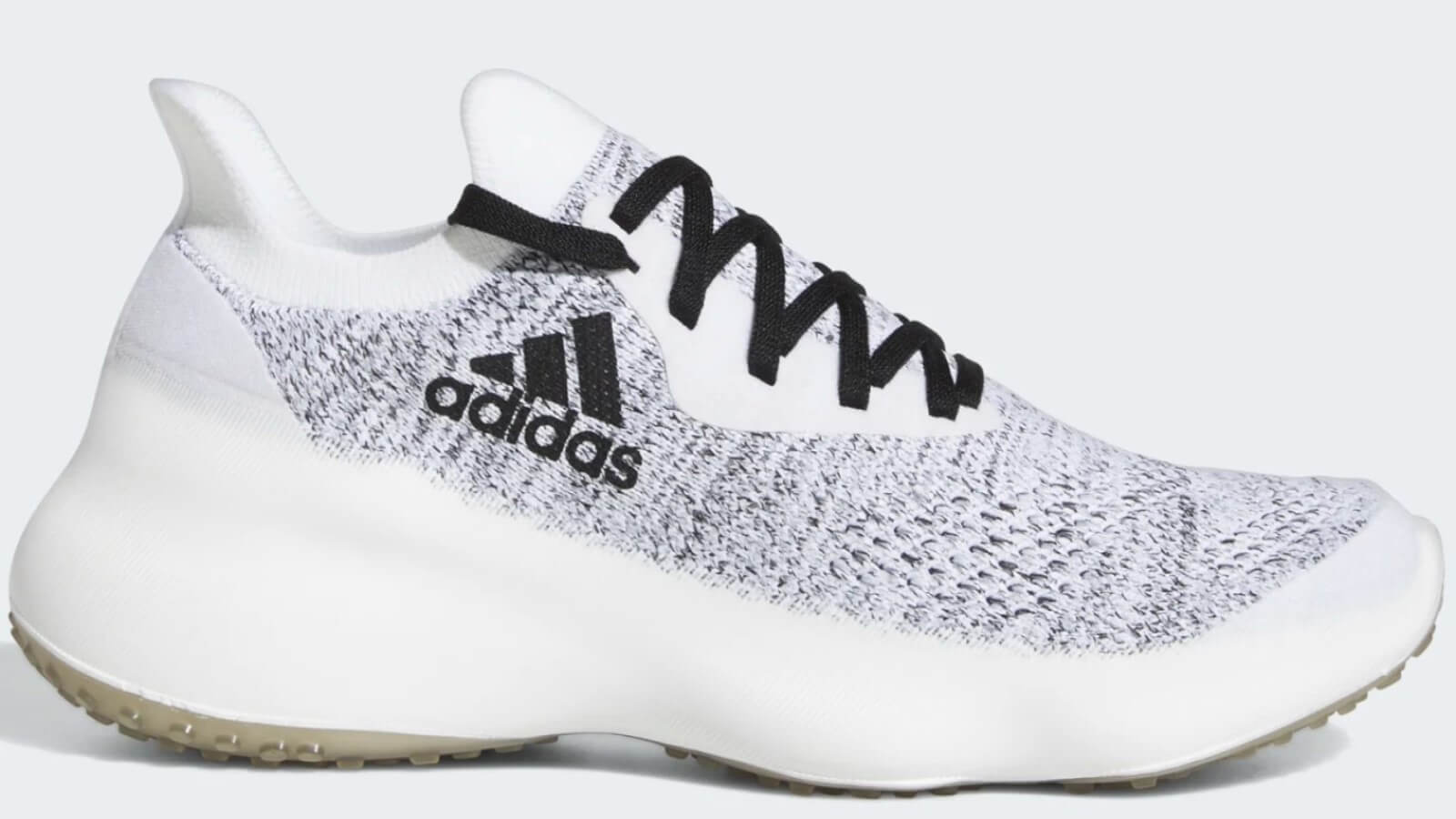 White with black accent profile of Adidas FutureNatural Workout Shoe