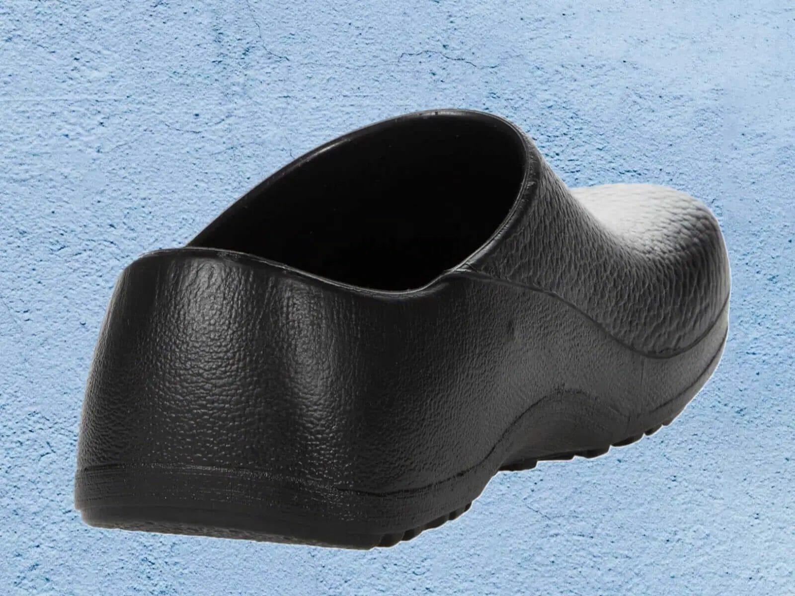 Details of the exterior rear heel of the birkenstock professional