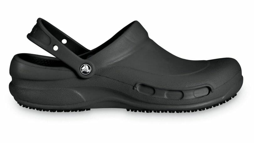 Crocs bistro clog with heel strap. Non-slip trade for greasy and wet kitchen floors