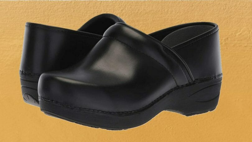 Pair of Dansko XP 2.0 non-slip clogs for chefs and kitchen work