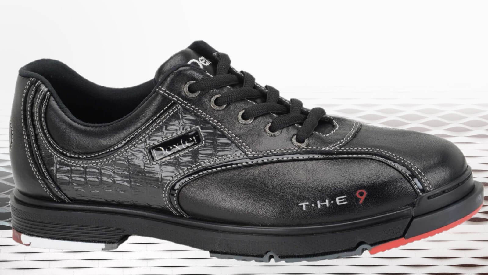 Black and red Dexter THE 9 bowling shoe
