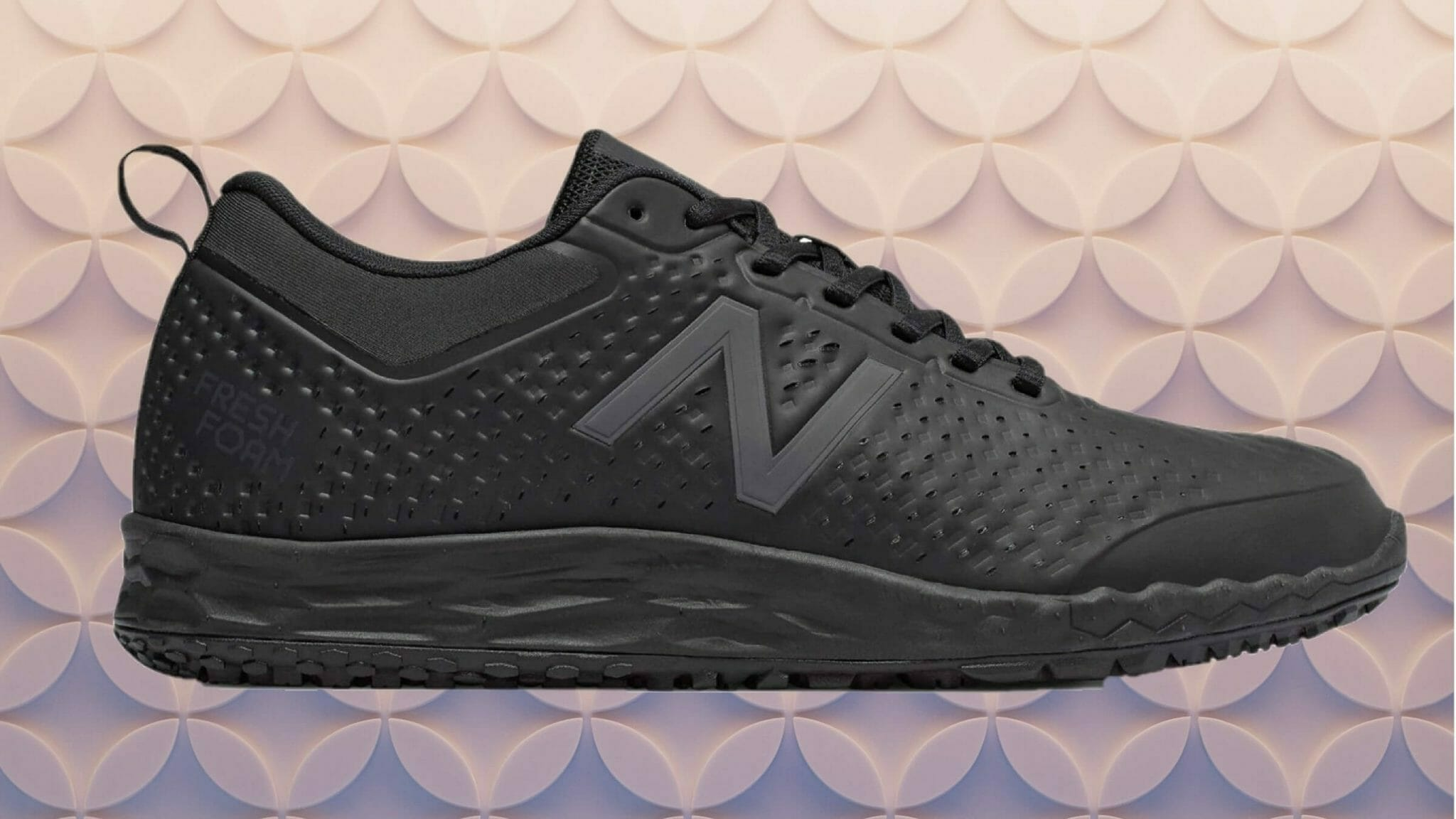 New Balance 806 slip resistant all black shoe for warehouse pickers walking on concrete