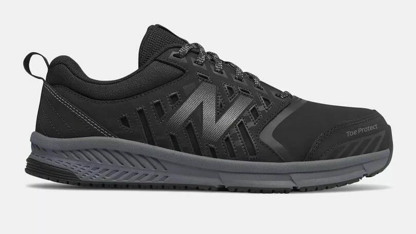New Balance 412 alloy toe slip resistant commercial work shoe.