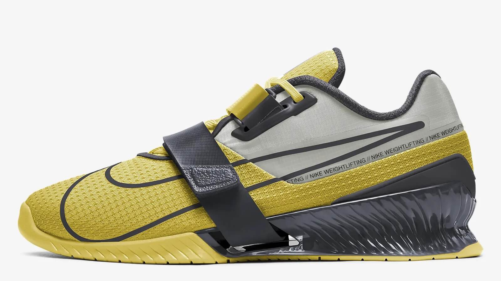Nike Romaleos 4 with yellow and black colorway.