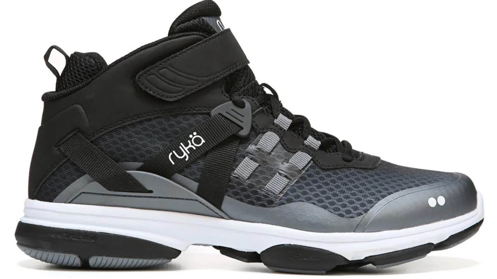 Profile of the Ryka Devotion XT High Top Shoe for classes in Zumba or HIIT