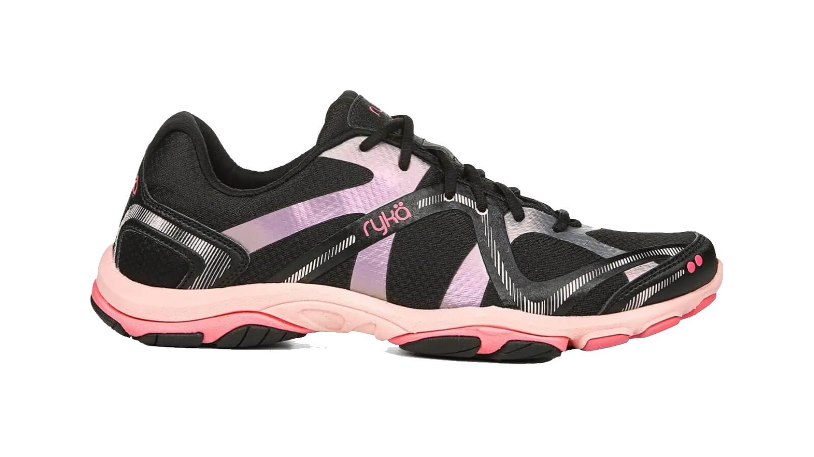 Ryka Influence pink and black fitness shoe for dance and hiit classes