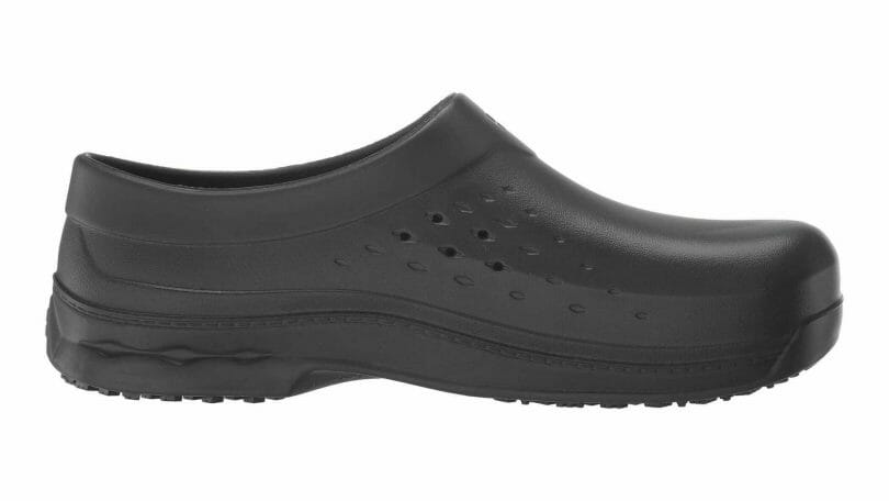 Shoes for crews Radium vented clog rated as one of the most comfortable chef shoes.