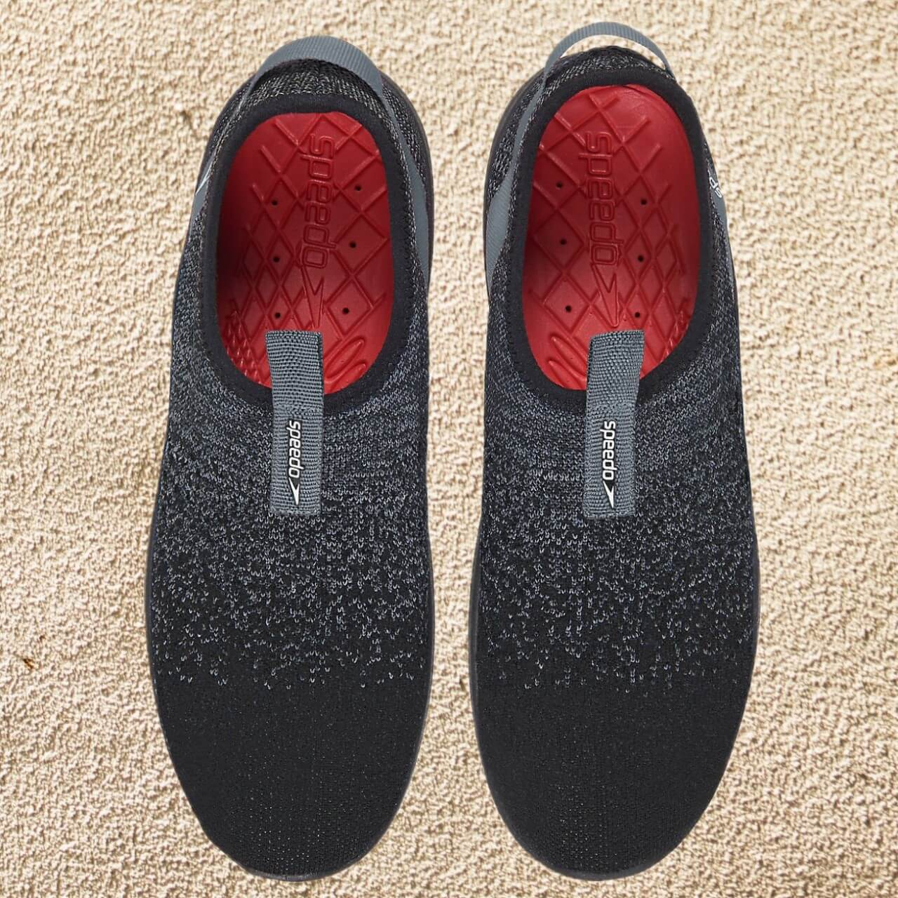 Overhead of speed surf knit pro showing insole and upper