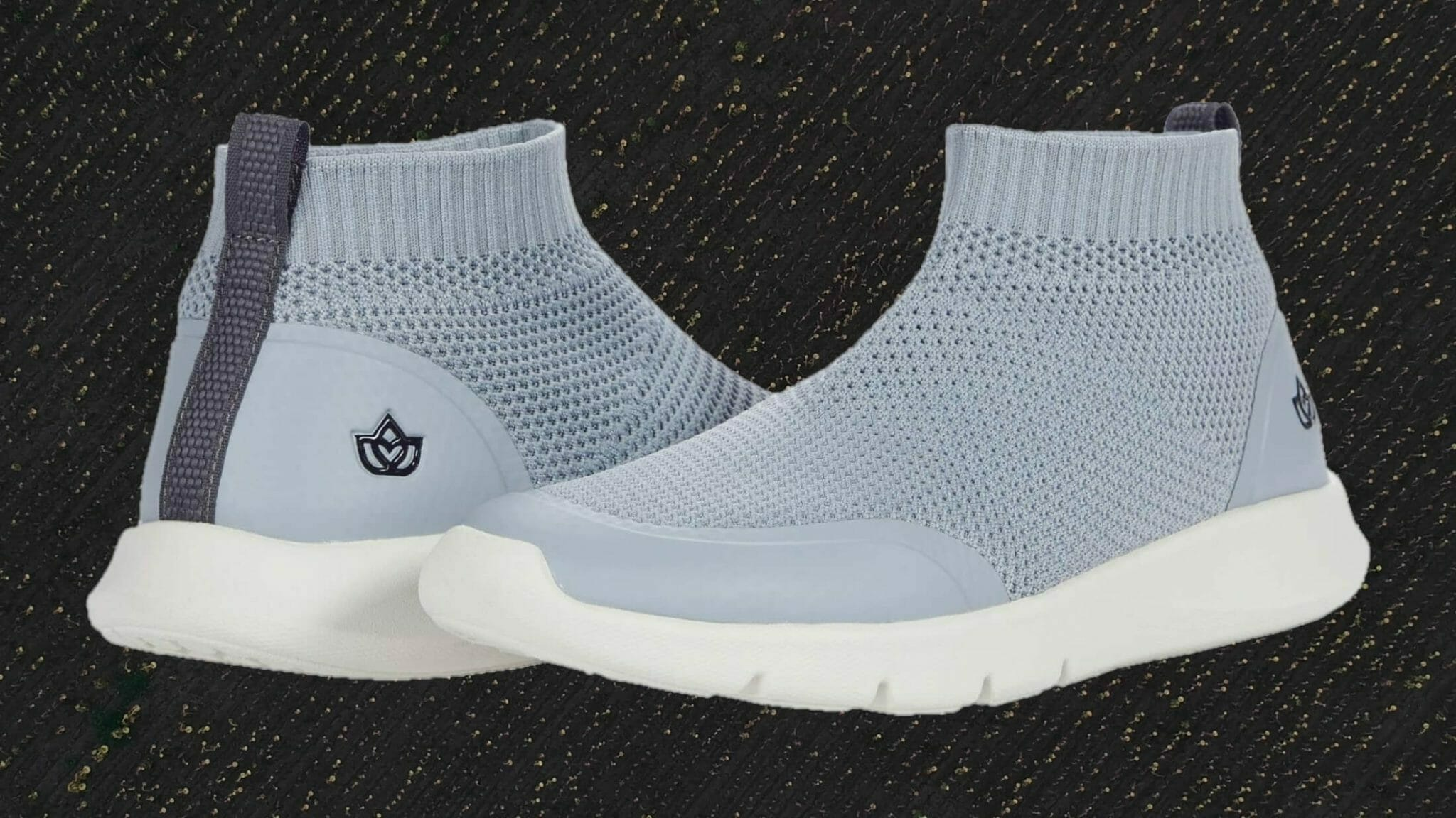 Spenco yoga stretch ankle-height shoes with full knit upper.
