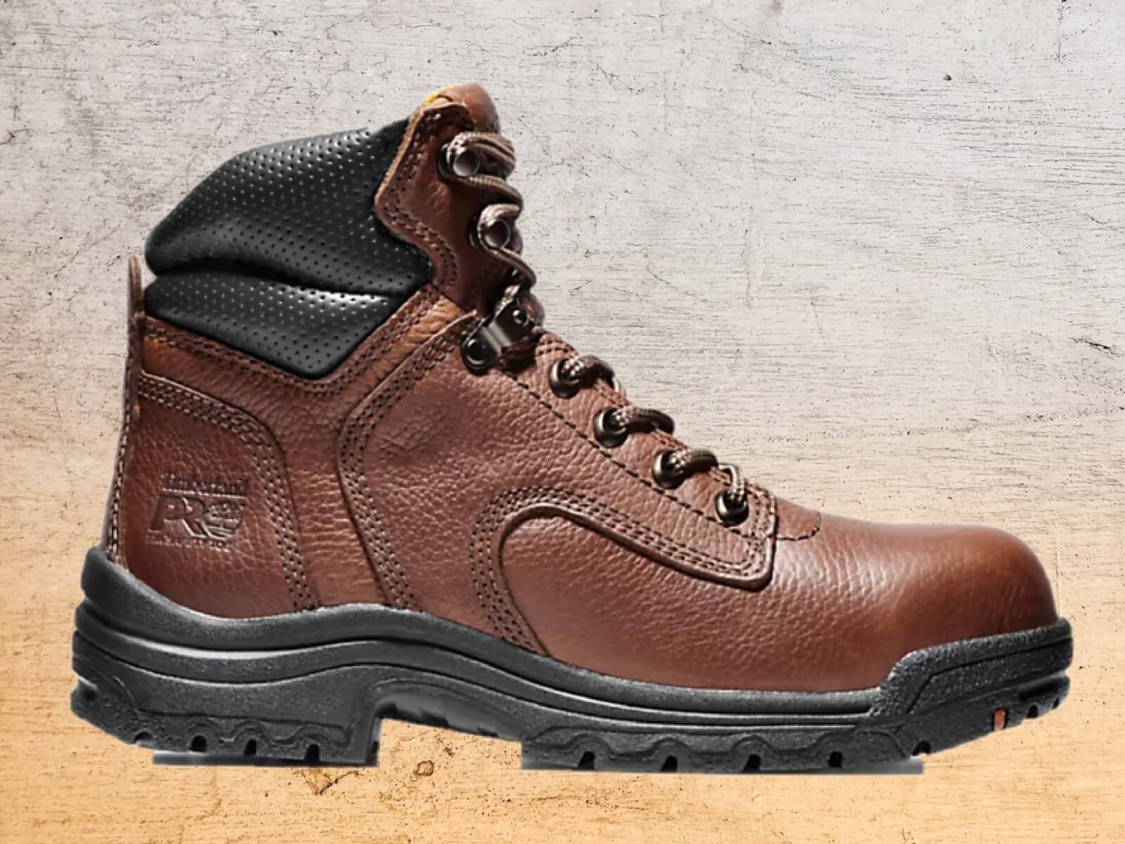 Timberland PRO Titan 6-inch work boots in brown for women