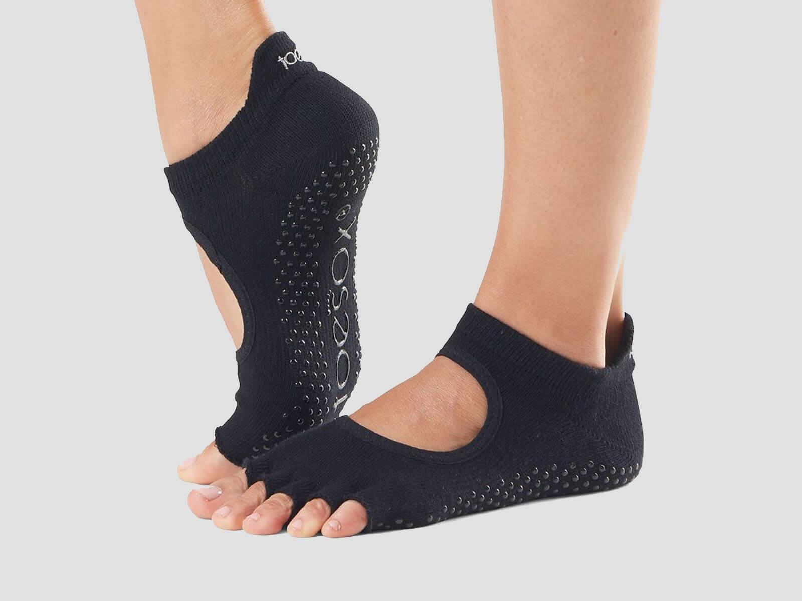 ToeSox Bellarina open toed socks for dance and yoga.