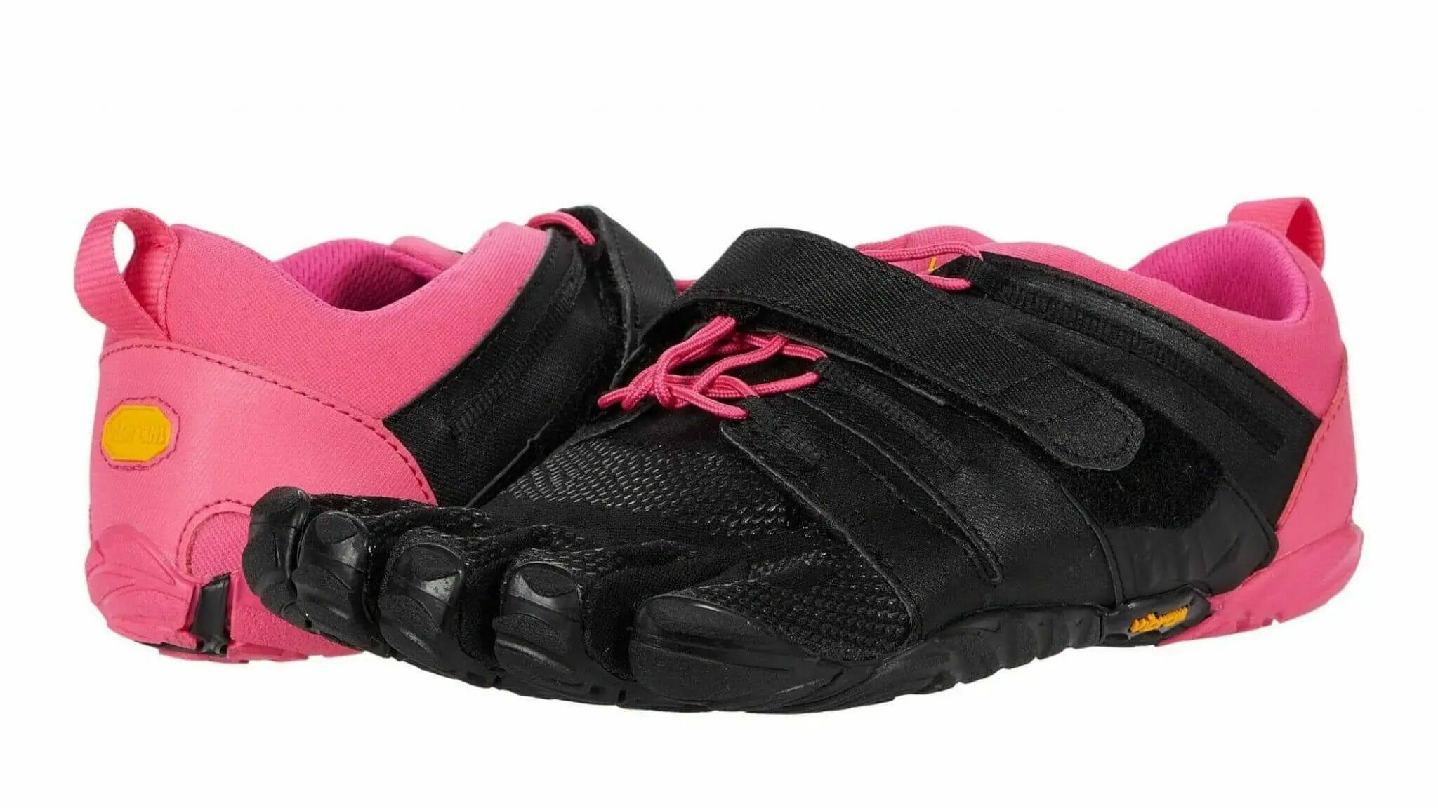 Pink and black women's Vibram FiveFingers V-Trian 2.0.