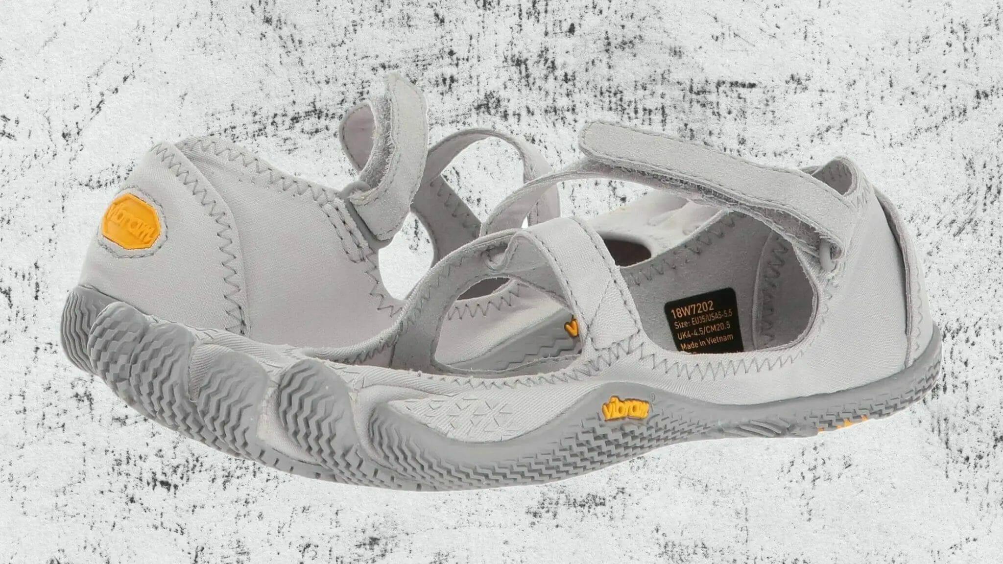 Vibram V-Soul FiveFingers studio shoes with double velcro strap.