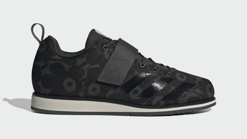 adidas Powerlift womens shoe design for powerlifting with 15mm heel height.